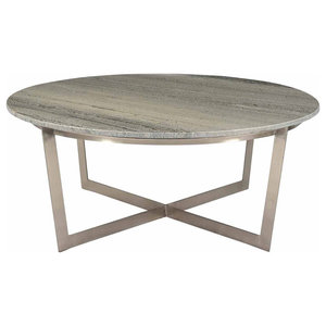 Rosa Round Marble Coffee Table Contemporary Coffee