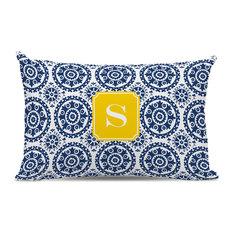 Lumbar Pillow Suzani Single Initial, Letter B
