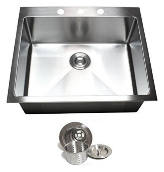 Top mount drop in 304 stainless steel single bowl kitchen sink top mount drop in 304 stainless steel single bowl kitchen sink 25x22 workwithnaturefo