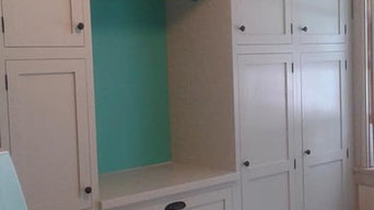 Painted Inset Laundry Room Cabinetry