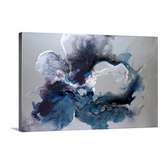 """Cerulean waters Wrapped Canvas Art Print, 60""""x40""""x1.5"""""""