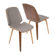 Serena Midcentury Dining Chairs Set Of 2 Light Gray