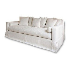 Elements Home Furnishing   Julius Fabric Upholstered Sofa, Seashell   Sofas