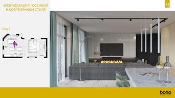 Концепция интерьера коттеджа в пос. Булгари парк