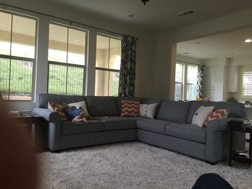 How Do I Make My Grey Couch Look Less Blue
