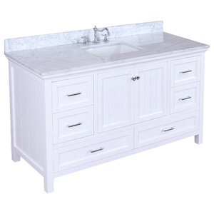 "Paige Bath Vanity, Base: White, 60"", Single Sink"
