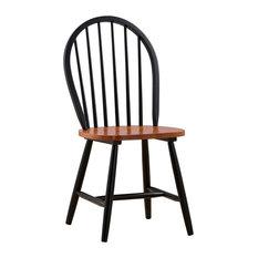 Farmhouse Chairs, Set Of 2, Black/Cherry