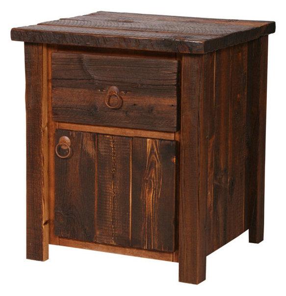 Rustic Heritage 1-Drawer 1-Door Nightstand