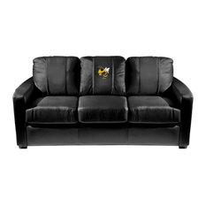 Georgia Tech Yellow Jackets Collegiate Silver Sofa With Buzz Logo