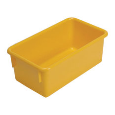 Steffy Wood Products Inc.   Steffywood Home Plastic Storage Box Cabinet  Yellow Tote Tray 13