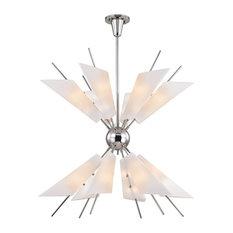 Hudson Valley Lighting 8069-Pn Cooper Chandelier, Polished Nickel
