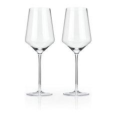 Raye Crystal Bordeaux Glasses by Viski, Set of 2