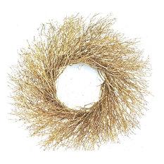 Botanical Splash - Gold Quailbrush Wreath - Wreaths and Garlands
