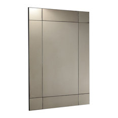 Deco Panelled Antiqued Mirror, 90x150 cm
