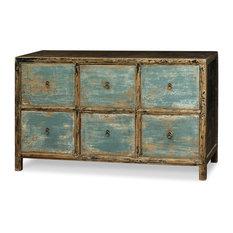 Superbe Elmwood 6 Drawer Ming File Cabinet