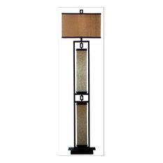 Asian Floor Lamps: Kenroy Home - Kenroy Home 30742 Plateau 1 Light Floor Lamp - Floor Lamps,Lighting