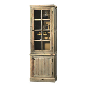 Cicoria Aged Pine Display Cabinet
