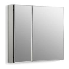 "Kohler - Kohler Aluminum 2-Door Medicine Cabinet Mirrored Doors, Beveled Edges, 30""x26"" - Medicine Cabinets"