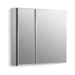 Kohler Aluminum 2 Door Medicine Cabinet Mirrored Doors Beveled Edges 30 X26