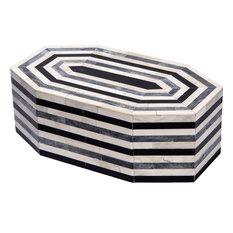 Leilani Octagonal Box, Cream, Gray, Black