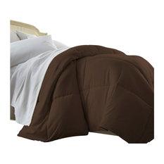 Becky Cameron Box Alernative Goose Down Comforter, Twin/Twin XL, Chocolate
