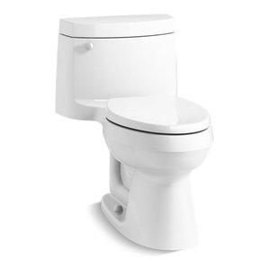 Kohler Cimarron 1-Piece Elongated 1.28 GPF Toilet w/ Left-Hand Lever, White