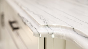 White Quartzite Vanity
