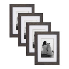 Gallery Wood Picture Frame Set, Gray 5X7 Matted To 3.5X5