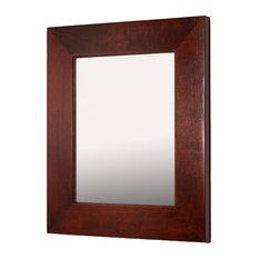 13x16 Fox Hollow Furnishings Mirrored Medicine Cabinet, Espresso