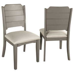 Clarion Dining Chair, Set of 2, Distressed Gray
