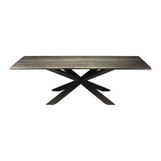 Gorgeous Oxidized Grey Conference Table With Matte Black 112-inch