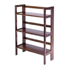 Durable 3-Shelf Stackable Folding Bookcase
