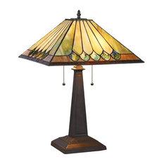 "Graham 2-Light Mission Table Lamp 16"""