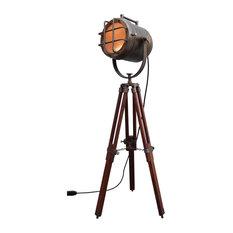 British Antique Brown Coner Argosit Floor Lamp