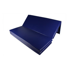 "FlooringInc 5'x10'x2"" Premium Tumbling Gymnastics & Exercise Folding Mats, Blue"