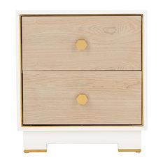 Safavieh Koa 1 Drawer Side Table White / Gold