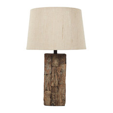 Ashley Furniture Homestore   Selemah Wood Table Lamp, Light Brown L327004    Table Lamps