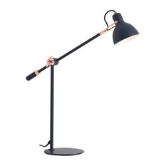 Seed Design Laito Gentle Table Lamp, Navy/Copper