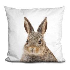 Rabbit Lp Decorative Accent Throw Pillow