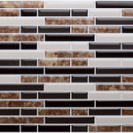 """CNK TIle - 9.25""""x11"""" Peel and Stick Random Mosaic, Glass and Stone Look - These Tiles are made of a clear gel component which gives its 3-dimensional glass and stone look."""