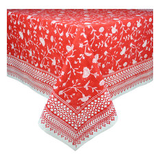 "English Red Tablecloth, 70"" Round"