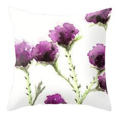 """Decorative Pillow Cover, Milk Thistle Floral, 12""""x17"""""""