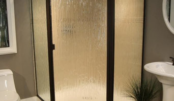 Shower Enclosure with Bronze Frame