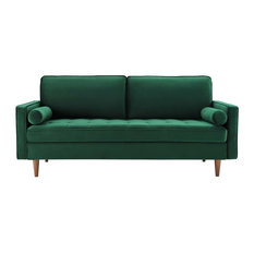 Valour Performance Velvet Sofa, Green