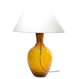 Retro Glass Vase Table Lamp, Honey
