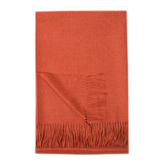Paris Baby Alpaca Throw, Tangerine Melange