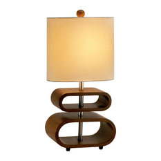 Adesso   Adesso Rhythm Table Lamp, Walnut 15   Table Lamps