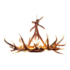 muskoka lifestyle products faux rustic elk 6 antler chandelier 6 candle lights 3