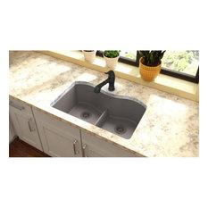 "ELGULB3322GR0 Quartz Classic 33"" Undermount Sink with Aqua Divide, Greige"