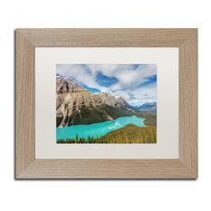 Pierre Leclerc 'Peyto Lake' Matted Framed Art, Birch Frame, White, 14x11